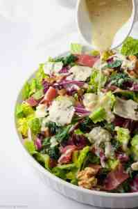 Hearty Tuscan Salad with Creamy Gorgonzola Dressing