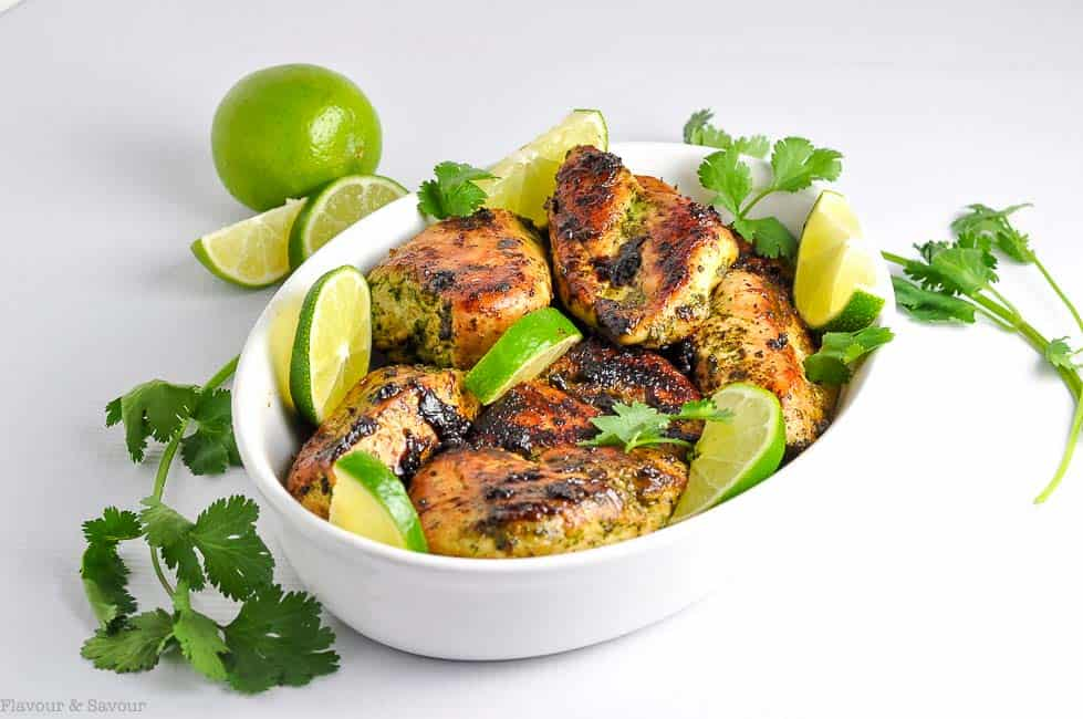 Easy Thai Baked chicken. One of 3 easy chicken meals to marinate, freeze and bake from www.flavourandsavour.com