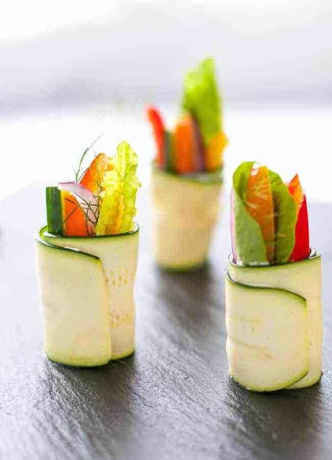 Fresh Veggie Zucchini Roll-Ups
