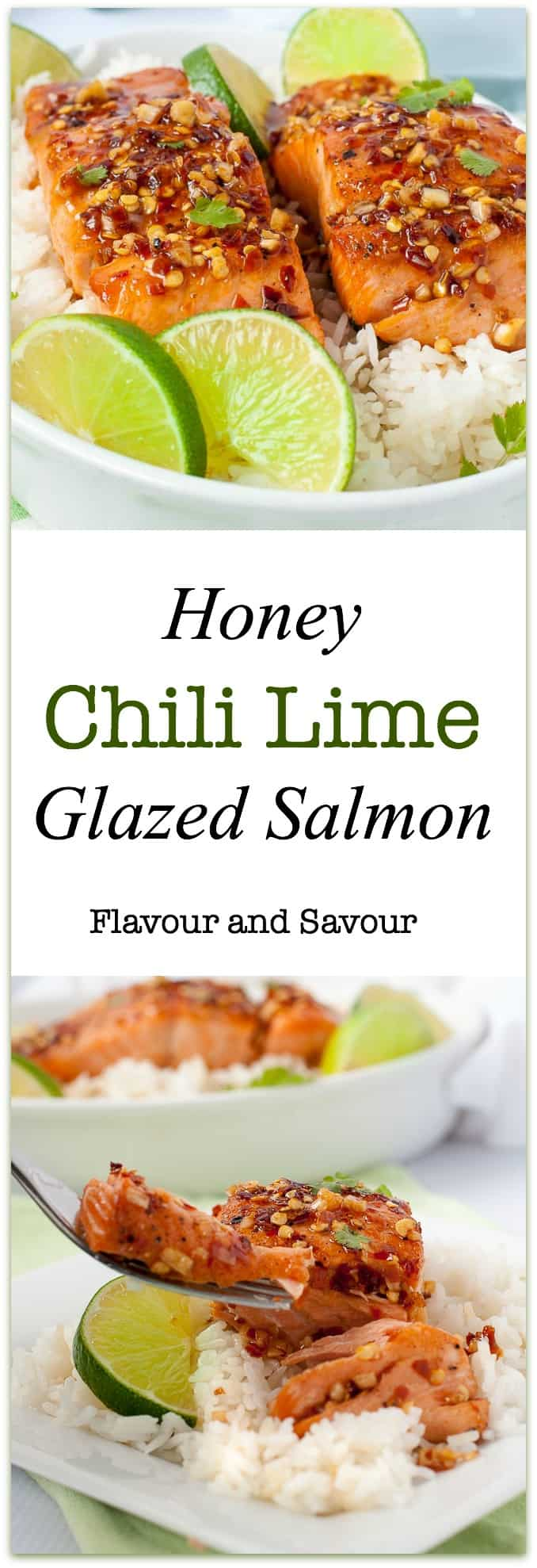 You only need 4 ingredients that you probably have on hand to make the glaze for this sweet and tangy Honey Chili Lime Glazed Salmon. Cooks in 15 minutes!