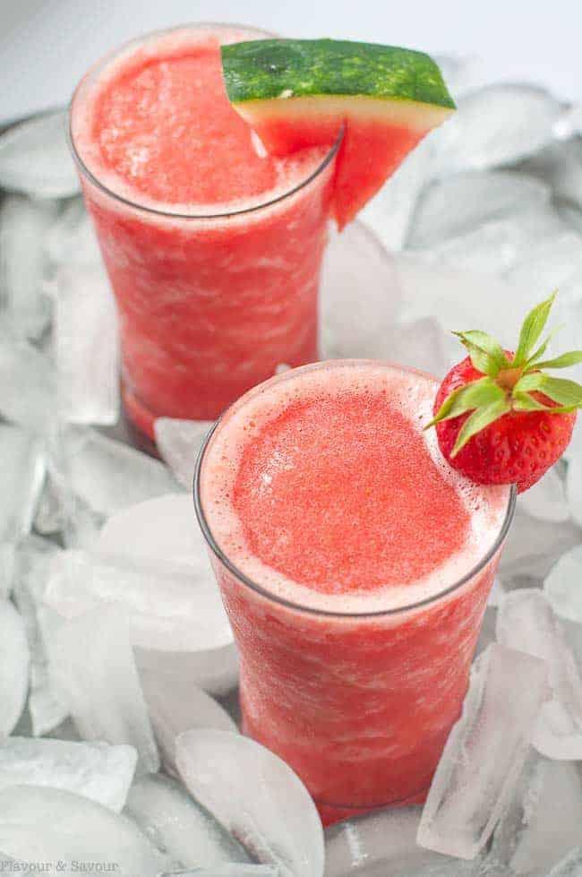 Strawberry Watermelon Sangria Slushie