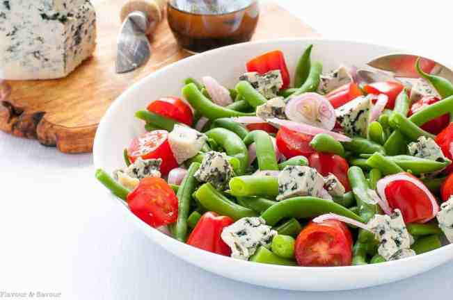 Green Bean Blue Cheese Salad. #flavourandsavour #greenbeans