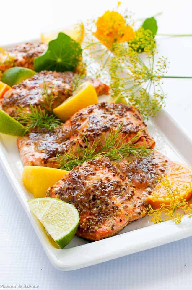 Honey-Dijon Glazed Salmon in Foil