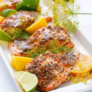 This Honey Dijon Glazed Salmon recipe has been a family favourite for years. It's quick and easy to make. Cooked in foil, you can grill it or bake it. Paleo1