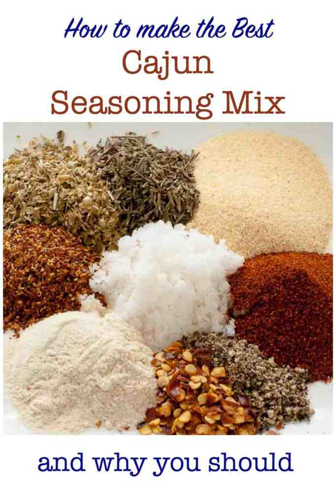 Pinterest Pin for How to Make Cajun Seasoning Mix