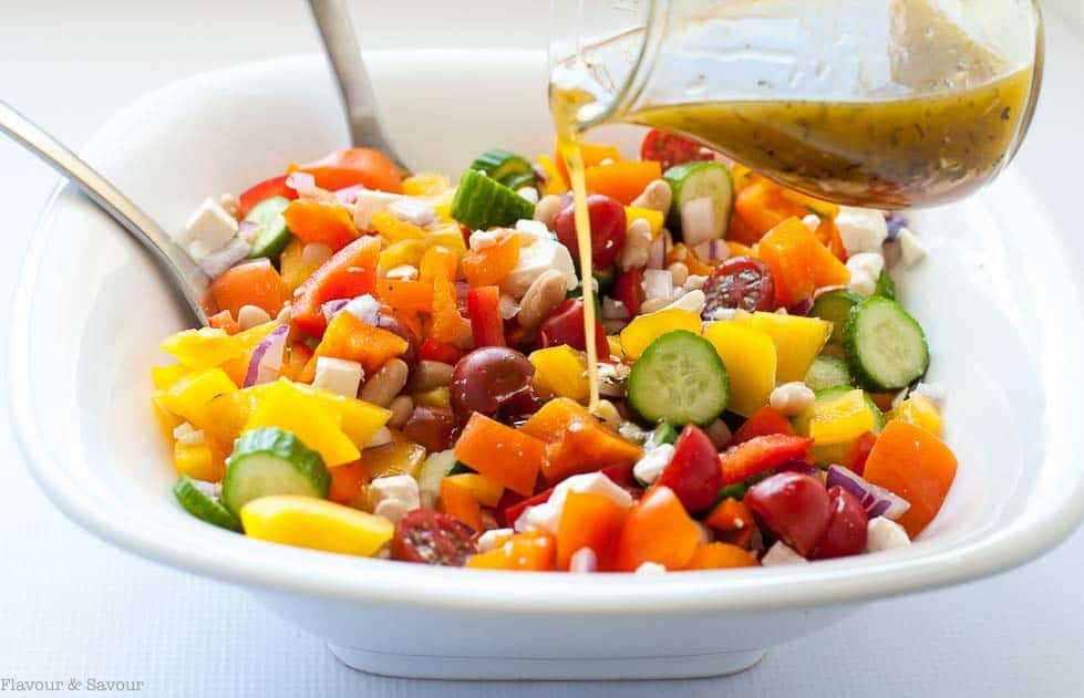 Mediterranean Chopped Salad with Cannellini Beans