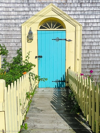 Colourful doorway in Annapolis Royal