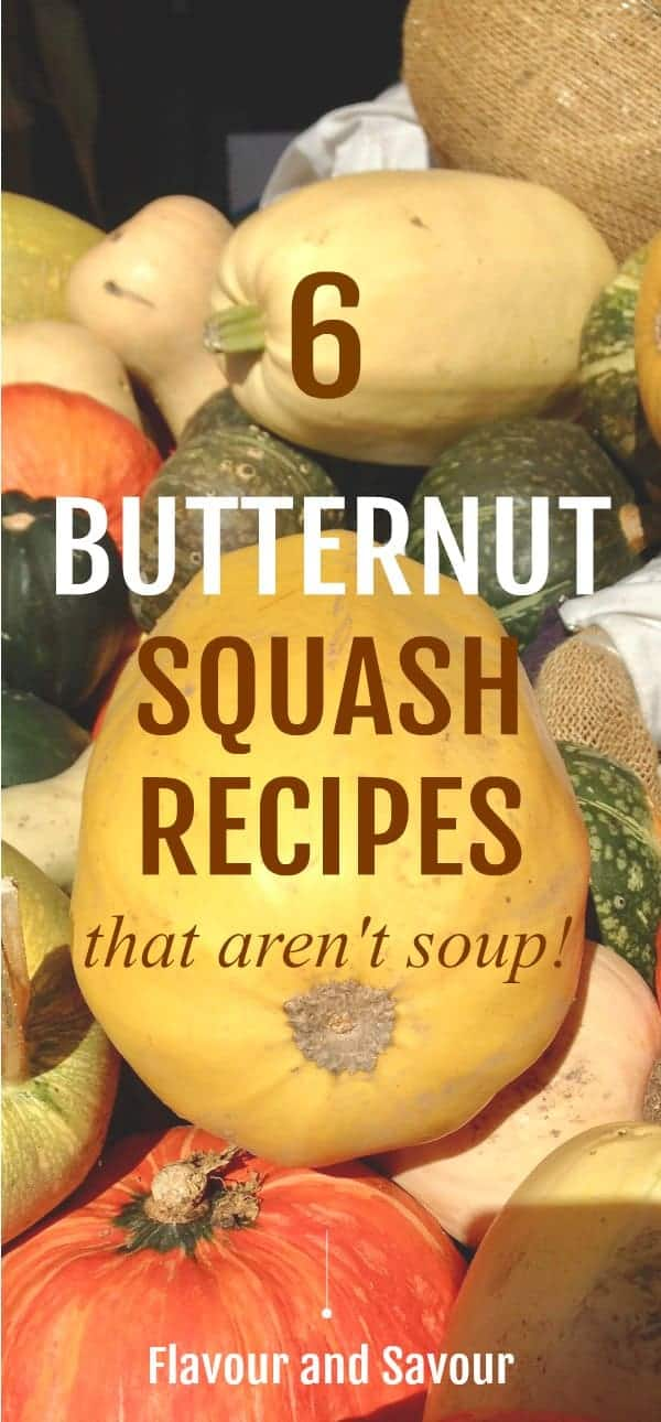 Six Butternut Squash recipes, including salads, and roasted butternut squash with sage and pepitas, with chili and garlic, with fresh rosemary and lime, and maple-dijon. Most are #paleo and #vegan.