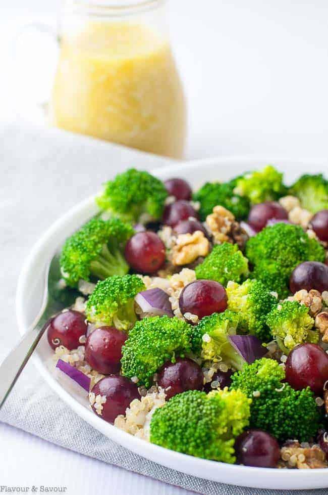 Broccoli Grape Quinoa Salad