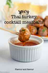 Spicy Thai Turkey Cocktail Meatballs