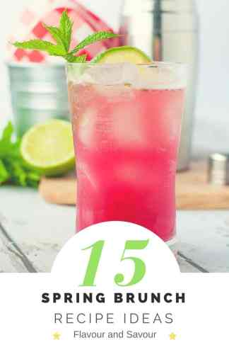 15 Spring Brunch Recipe Ideas with a Rhubarb Mint Mojito