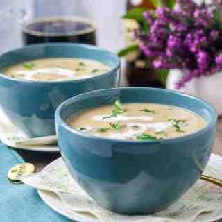 Creamy Roasted Garlic Irish Potato Soup