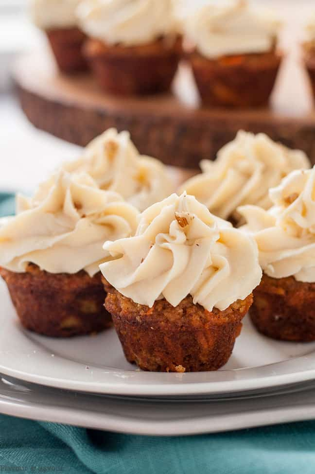 Cream Filled Carrot Cake Cupcakes