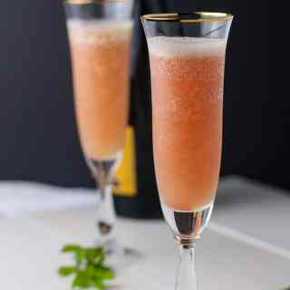 Rhubarb Bellini Prosecco Cocktail