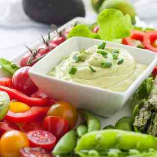 Mayo-Free Avocado Green Goddess Dressing