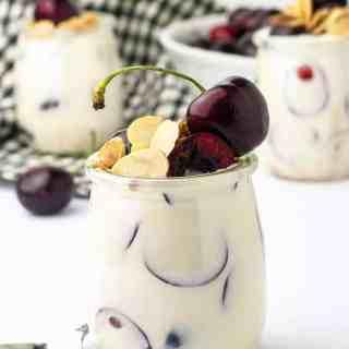 10-Minute Creamy Lemon Ricotta Cherry Parfait