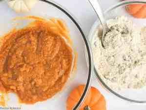 Preparing Mini Gluten-Free Pumpkin Loaf or Muffins
