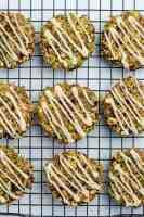 Paleo Apple Cinnamon Oatmeal Breakfast Cookies on cooling rack