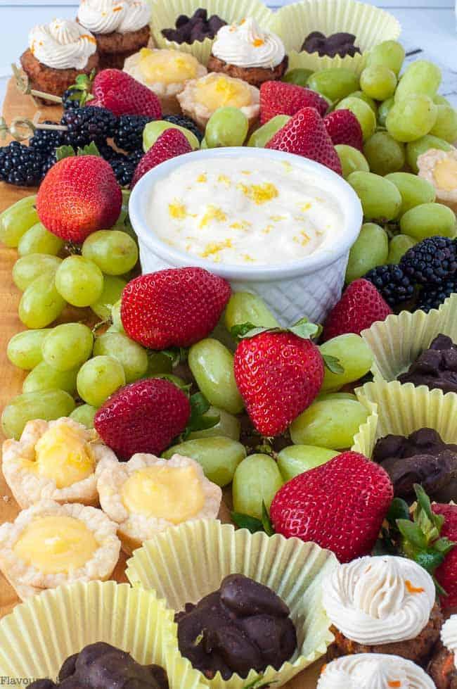Fruit and Dip Dessert Board