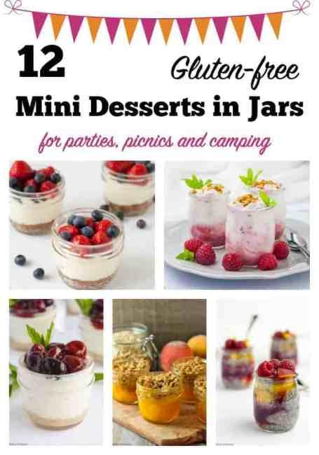 12 mini desserts in jars pin