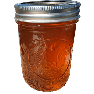 Peach and lavender artisan jam handcrafted from locally grown, fresh produce by Flavour in a Jar.
