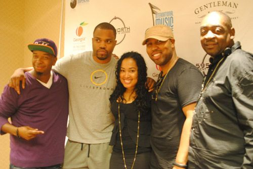 L-R: JON JON Traxx, Grammy winning songwriter, Chef Tone, Jennifer Drake (Director of Urban at ASCAP), Grammy nominated songwriter, Claude Kelly, Grammy winning songwriter and producer, Manuel Seal