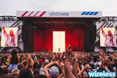 Kanye West closing Day 1 of #Wireless in London last Friday