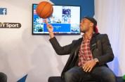 The BT Sport Facebook Lounge at the New York Knicks v the Milwaukee Bucks NBA game - 15 Jan 2015