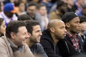 Fabregas - Henry - Drogba NBA Courtside