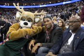 Milwaukee Bucks Mascot and Drogba