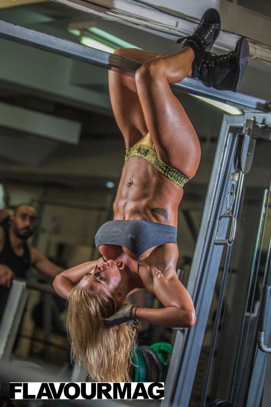 Charlayne Everhart fitness shoot Flavourmag 14