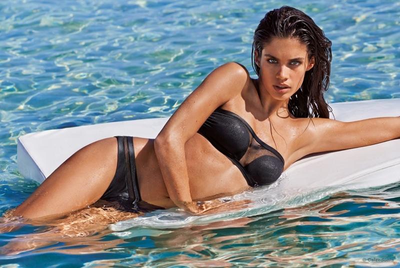 2aa6729334 Sara Sampaio sizzles in Calzedonia bikini campaign