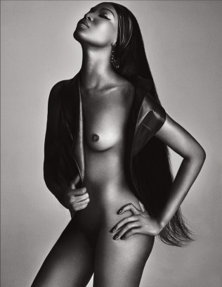 Naomi Campbell Naked in Lui Magazine 1