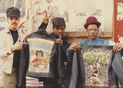 CNN Films: Fresh Dressed- The jean jacket was graffiti art's first canvas. B boys on the street, Brooklyn circa 1983 Photograph by Jamel Shabazz