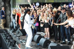 LONDON, ENGLAND - JUNE 21: (SUN NEWSPAPER OUT. MANDATORY CREDIT PHOTO BY DAVE J. HOGAN GETTY IMAGES REQUIRED) Chic featuring Nile Rodgers perform at the British Summer Time 2015 at Hyde Park on June 21, 2015 in London, England. (Photo by Dave J Hogan/Getty Images) *** Local Caption *** Nile Rodgers; Chic
