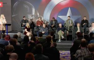 Captain America: Civil War at the European Press Conference