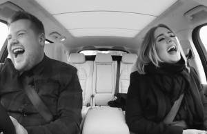 Adele with James Corden in Carpool Karaoke
