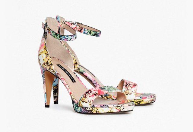 nata floral heeled sandals
