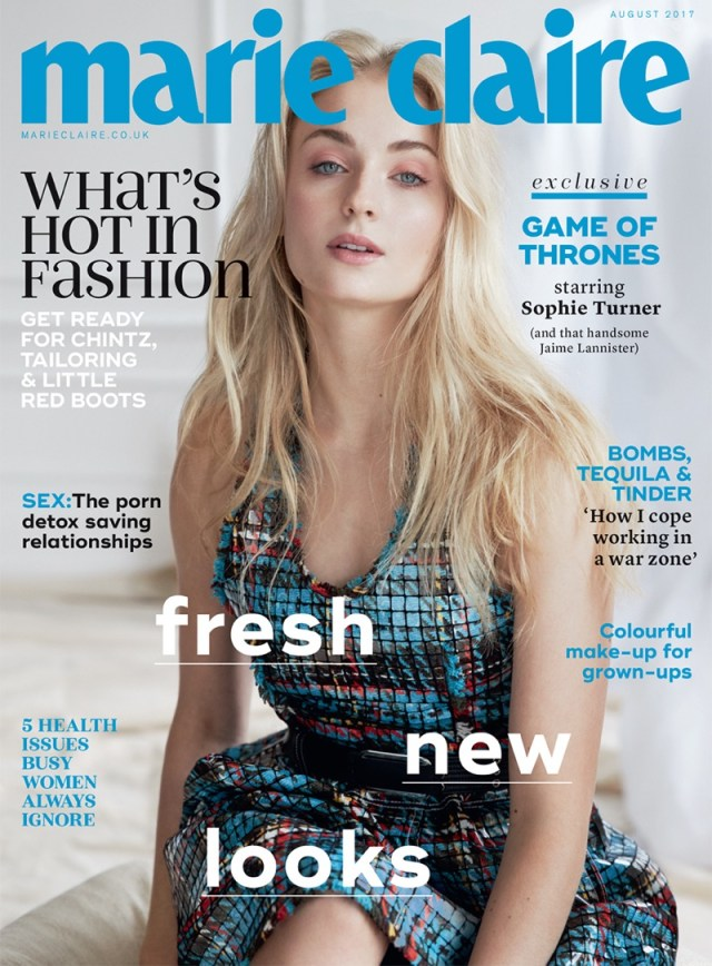 Sophie Turner on the cover of Marie Claire