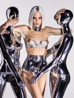 Cara Delevingne does nude cyber glam - 2