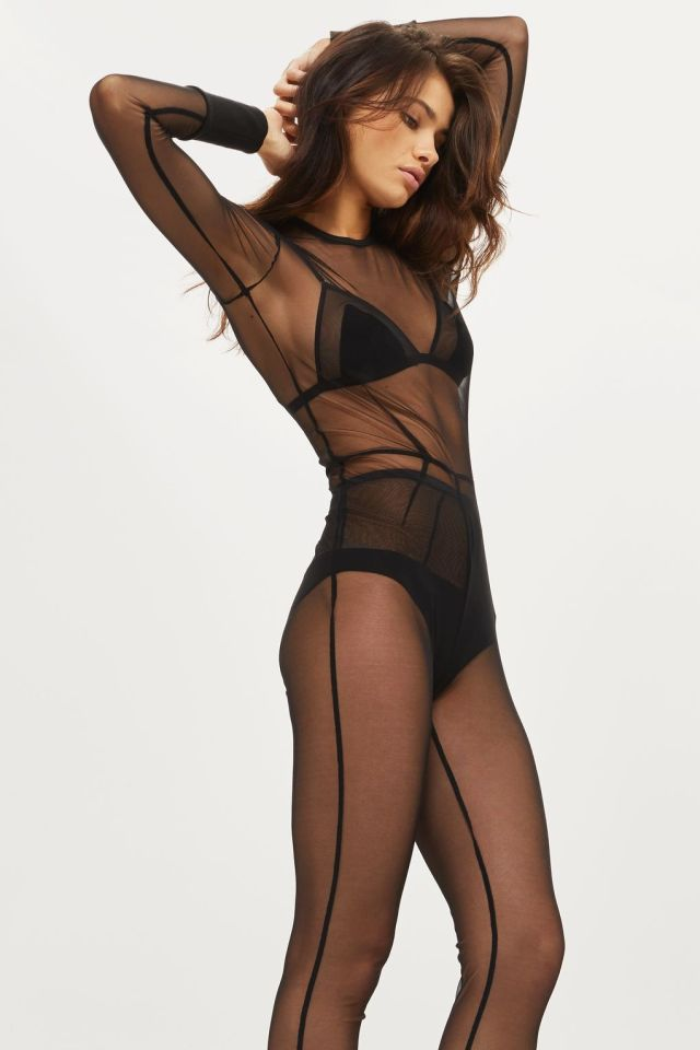 KENDALL + KYLIE Mesh Catsuit