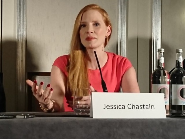 Molly Games press conference - Jessica Chastain