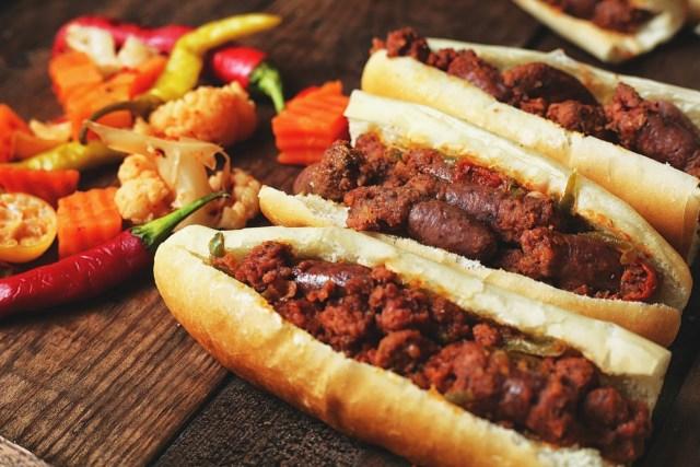 beef hot dog