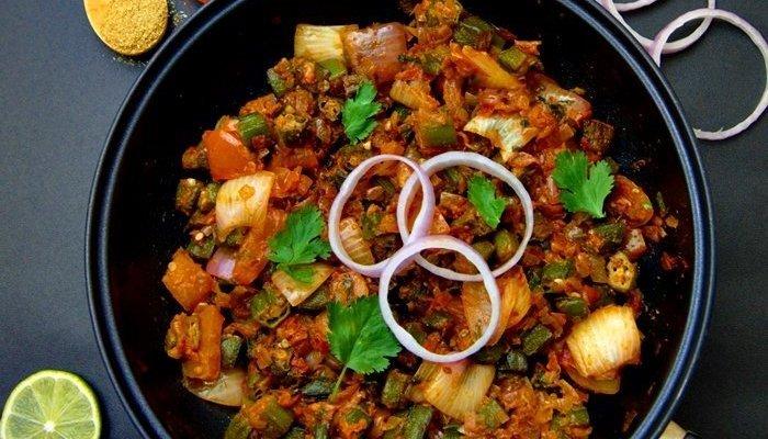 Bhindi Do Pyaza (Okra Side Dish + Video)