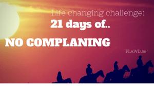 NO COMPLAINING