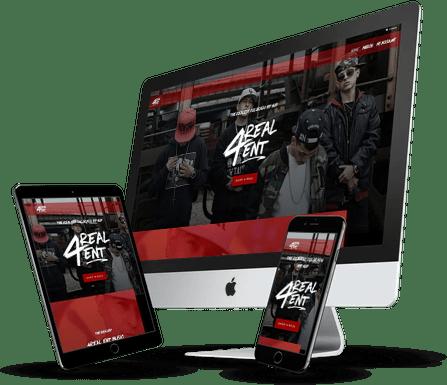 4Real Ent Website Design