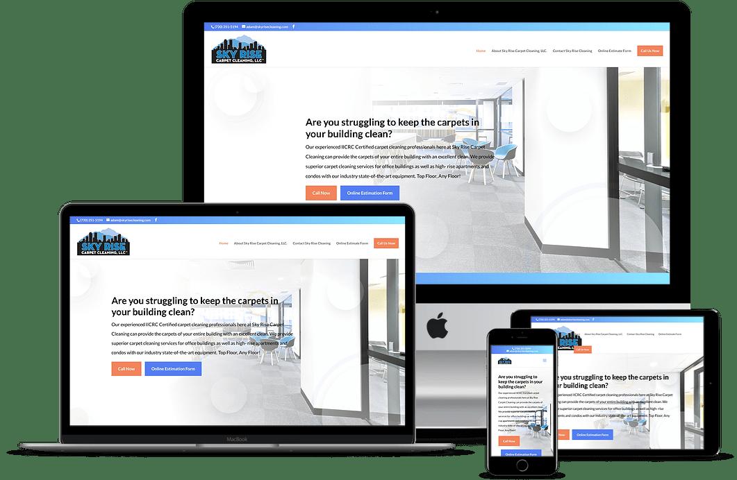 Sky Rise Carpet Cleaning Website Design