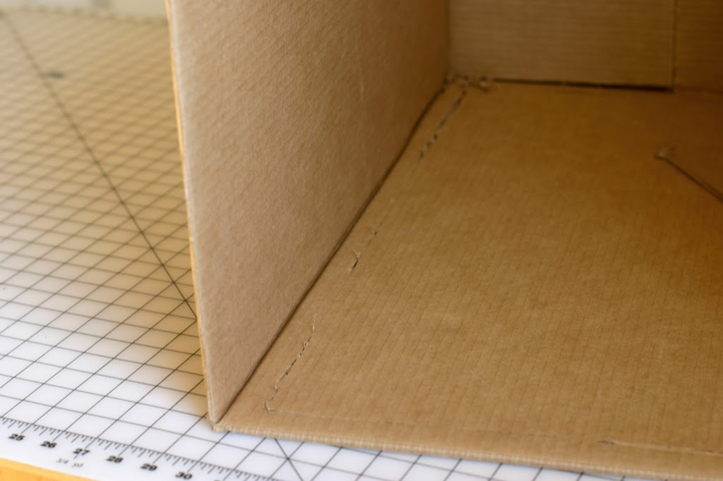 Cut out a rectangle 1u2033 shy of sides on three of the four sides of the box. & DIY Photo Light Box - a finish fifty project - Flax u0026 Twine Aboutintivar.Com