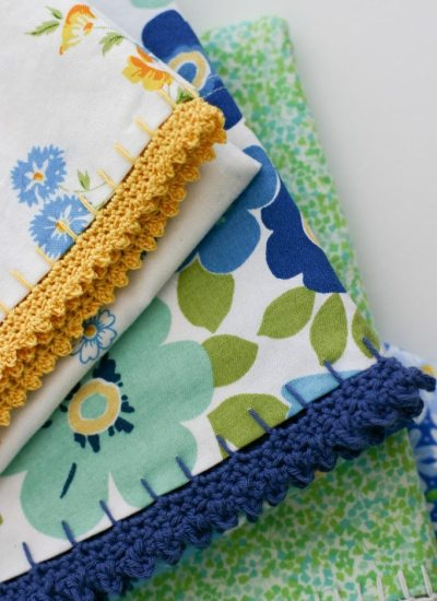 Mid Make: Crochet Edged Pillowcases