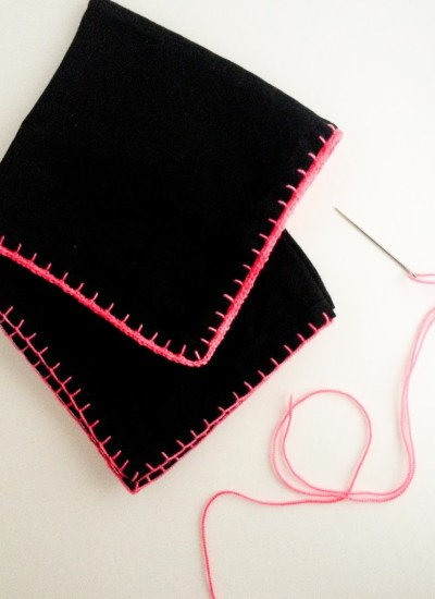 Mid-Make . . . Blanket Stitched Napkins and a Retreat Spot Giveaway!